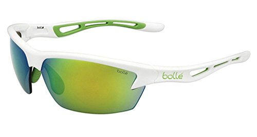 Bolle Edge - Bolle Cycling Bolt Sunglasses Frame 11773 Shiny White Green Edge New