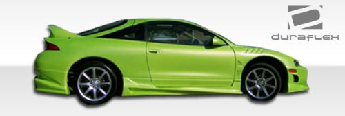 Duraflex ED-TFZ-437 Bomber Side Skirts Rocker Panels - 2 Piece Body Kit - Compatible For Mitsubishi Eclipse 1995-1999