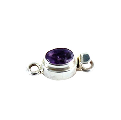 Amethyst Faceted Sterling Clasp Small ()