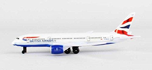 Showcasts British Airways 787 Single Plane, White - Daron RT6005 - Diecast Model Airplane (Plane Replica)