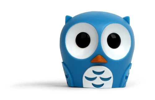 Kikkerland Owl Suction Cup Toothbrush Holder, Light Blue