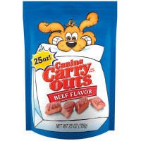Canine Carry Outs Beef Flavor Chewy Snacks for Dogs, 7-Ounce, My Pet Supplies