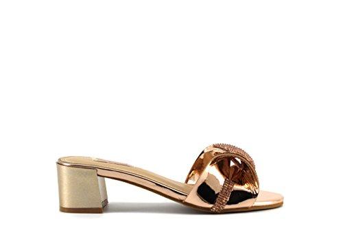 Modelisa - Sandalias Destanolada Lazo Mujer Champagne