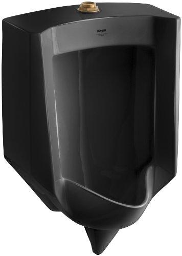 Kohler K-4972-ET-7 Stanwell Lite Urinal with Top Spud, Black (Black Wall Mount Urinal)