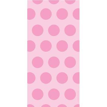 Pastel Pink Polka Dot Cellophane Bags (20 ct)