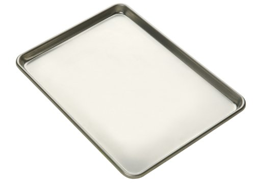 Focus Foodservice Commercial Bakeware 14-Gauge Natural Finish Aluminum-Sheet Pan, 1/2-Sheet by Focus Foodservice
