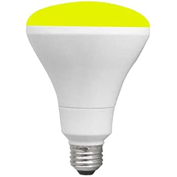 TCP 65W Equivalent, BR30 Yellow Colored Flood Light Bulb ...
