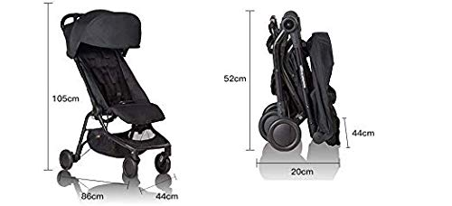Mountain Buggy Nano Stroller, Black Bundle with Grab Bar & Food Tray - Lightweight, Easy to Assemble and Durable Compact Fold - Ideal for Family Travel by Mountain Buggy (Image #8)