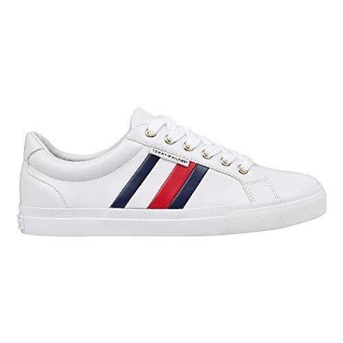Tommy Hilfiger Women's Lightz Sneaker, White Multi, 6.5