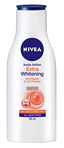 1 X 50ml - Nivea Body Lotion Extra Whitening Cell Repair & Uv Protect Spf-15