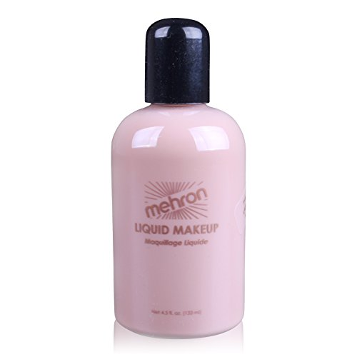 Mehron Makeup Liquid Face & Body Paint, LIGHT TAN – (Beauty Geek Costume Ideas)