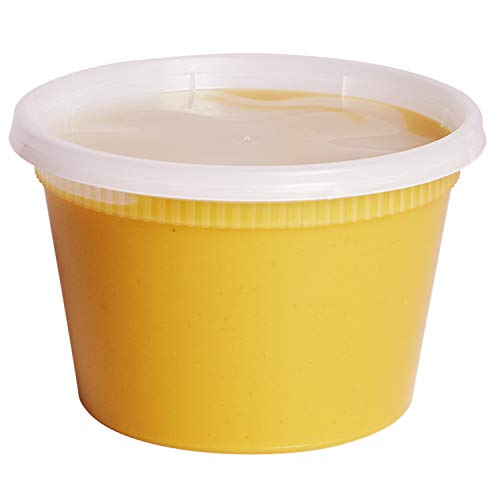 [48 Sets - 16 oz.] Plastic Deli Food Storage Containers With Airtight Lids by Comfy Package