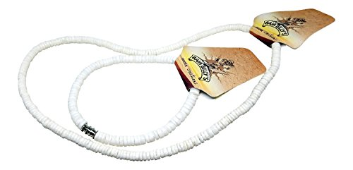 - Baja Billy's Smooth White Shell Necklace and Anklet Set, Beach Style