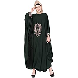 Mushkiya ABE-101 Beautifully embroidered FREE SIZE Irani kaftan burkha for women girl