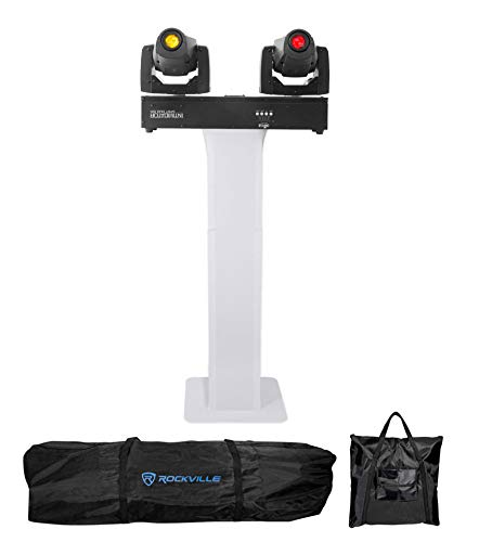Chauvet Intimidator Spot Duo 155 LED 2) DMX Moving Head Lights w/Totem Stand