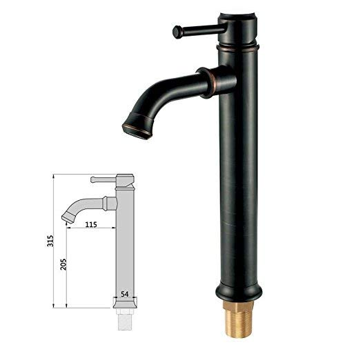 FERZA home Sink Mixer Tap Bathroom Kitchen Basin Tap Leakproof Save Water Antique With Hot And Cold High Copper