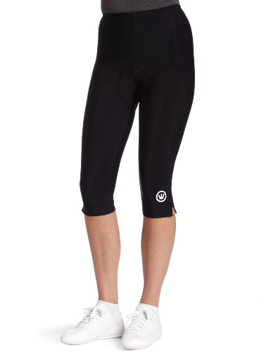 Canari Cyclewear Women's Pro Tour Gel Knicker Padded Cycling Short (Black, (Pro Bib Knickers)