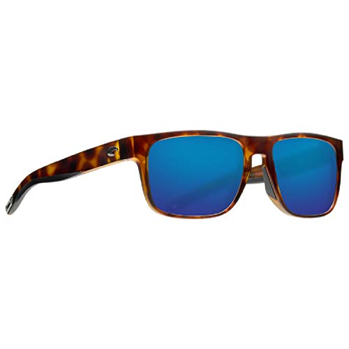 Costa Del Mar Spearo Sunglasses Matte Tortoise/Blue Mirror 580Plastic