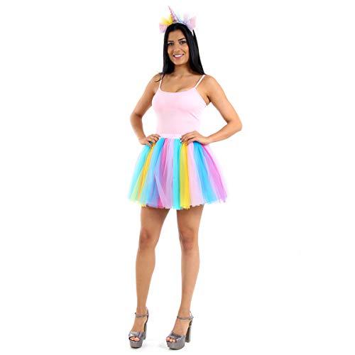 Saia Unicórnio Adulto Sulamericana Multicolor