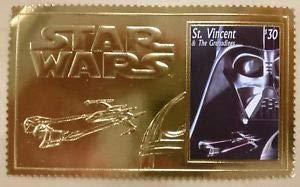 d Stamp Mnh 23Kt St. Vincent Sci-Fi Darth Vader - Limited Edition Stamps - St Vincent ()