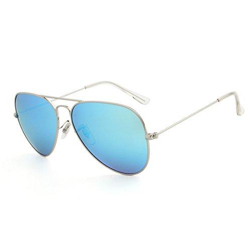 Classiques polarisées Femmes de ovales Lunettes Designer pour Aviador Hommes Polarizado Marque de Vue Lunettes XZP Oculos Silver Soleil blue xt0qnI