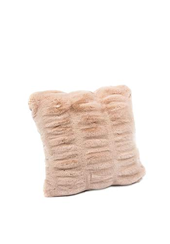 Donna Salyers' Fabulous-Furs Couture Collection ROS Mink Faux Fur Pillows (18x18 in) (Rose Mink) -  Fabulous Furs, 10600 ROSE