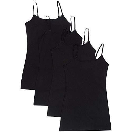 TIFENNY 4PCS Sling Tanks for Women Adjustable Shoulder Vest Top Blouse Casual Tops Sleeveless ()