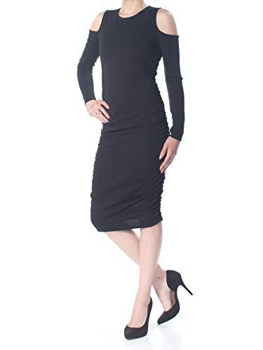- Bar III Womens Glasgow Cold Shoulder Bodycon Cocktail Dress Black S