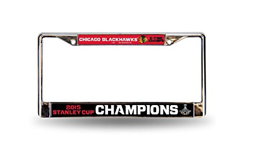 Chicago Blackhawks 2015 Stanley Cup Champions Chrome Car Frame