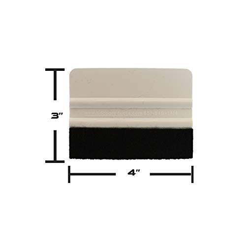 """Tints ABN Felt Edge Squeegee 4/"""" Inch for Applying Automotive Graphics Vinyl Wrap and Screen Printing Decals"""
