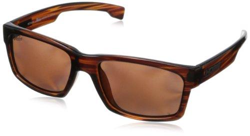 Hobie The Wedge Rectangular Sunglasses,Shiny Brown Wood Grain,55 - Eyewear Hobie