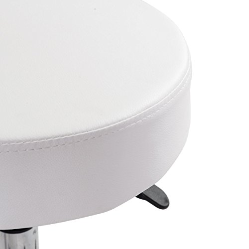 G&GOnline 1 PC adjustable Hydraulic Rolling Swivel Bar Stool Massage Spa Beauty Seat White by Unknown (Image #2)