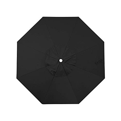 - Shadeprotection Black Sunbrella Fabric Top Cover Replacement Umbrella Canopy for 9 ft 8 Ribs Patio Umbrella Sunbrella Fabric Canopy (Acrylic Sunbrella, Canvas Black)