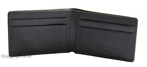 Osgoode Marley RFID Ultra Mini Thinfold Mens Bifold Wallet - Black ()