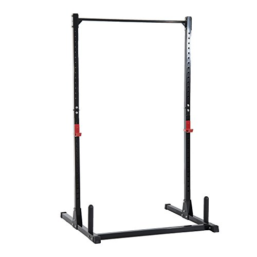 Soozier Adjustable Power Rack Exercise Stand - Black by Soozier