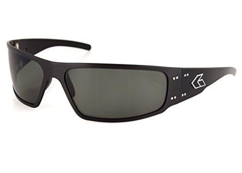 Gatorz Eyewear, Mugnum Model, Aluminum Frame Sunglasses - Black/Emerald Polarized ()