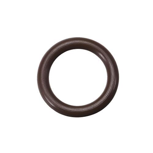 Odor Rings of Fluorine Rubber Internal Diameter of 12.8 mm Width of 3.1 mm Outer Diameter of 19 mm Brown Seal 50 Pieces