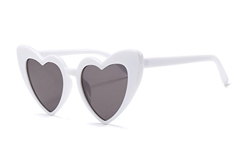 FEISEDY Vintage Heart Shaped Sunglasses Women Stylish Love Eyeglasses ()