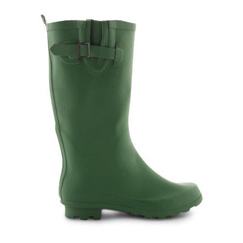 New Womens Ladies Festival Lluvia Nieve Botas Tamaño UK 345678de montar de invierno botas de agua Verde