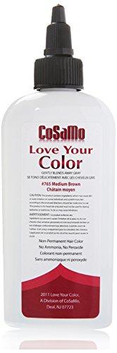 Love Your Color Cosamo Non Permanent Hair Color, Brown, Medium (Cosamo Hair Color compare prices)