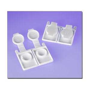 Zink Color Disposable Contact lens case white x50 pc by Zink Color