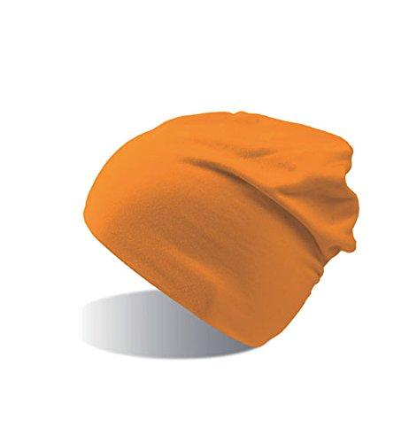 Capas 2 Gorro Flasch de Orange Lungo de Invierno y Gorro Long Algodón Hombre Jersey Mujer Beanie Winter qRvw0RHxP