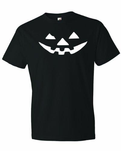 Men's JACK-O-LANTERN. Halloween Pumpkin Smily Face Costume. T-Shirt-Black-3X