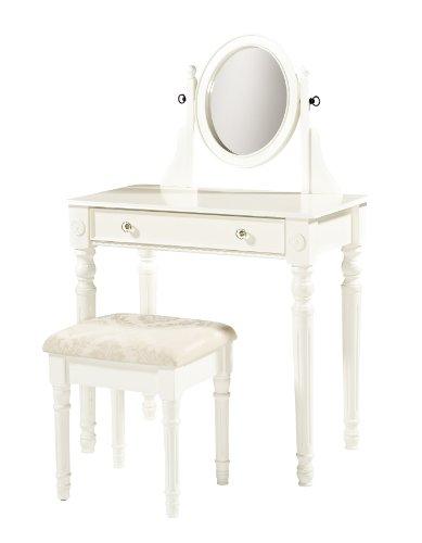Linon Home Decor Lorraine Vanity Set, White (Linon Set)