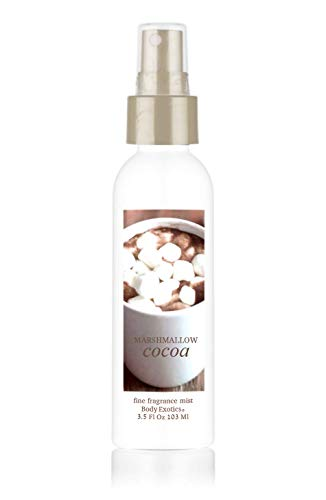 """Marshmallow Cocoa Perfume Fine Fragrance Mist by Body Exotics 3.5 Fl Oz 103 Ml""""Two thumbs, way up!"""" ~ the Irresistible Scent of Cocoa, Melting Marshmallows & Whipped Cream"""
