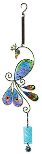 Sunset Vista Designs Metal and Glass Peacock Bouncy Hanging Decoration