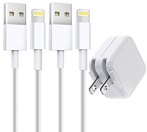 [Apple MFi Certified] iPad Charger, Stuffcool 2.4A 12W USB Wall Charger with Foldable Plug & 2 Pack 6FT Lightning Cable…