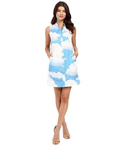 Mara Hoffman Women's Linen Shirtdress Sky Blue Dress XS