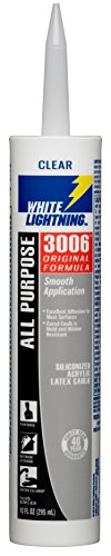 White Lightning Products 30067 3006 Siliconized All Purpose Acrylic Latex Adhesive Caulk, Clear