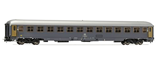 Rivarossi HR4243 Set of 2 UIC-X Passenger Cars 1 2nd Class Model Railway Grey ()